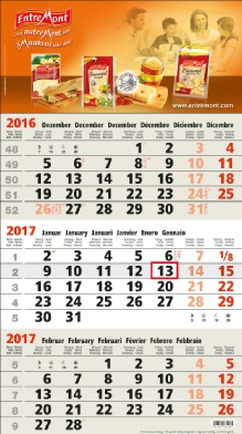 Calendrier 3 Mois Business beige 3M.7 BS