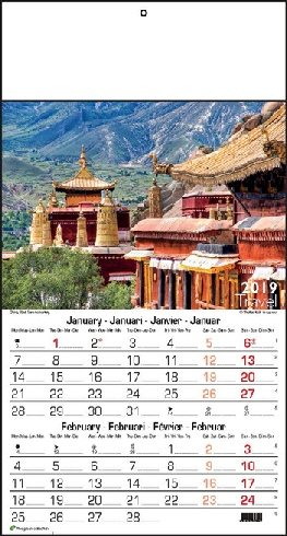 Calendrier 6 pages, Travel