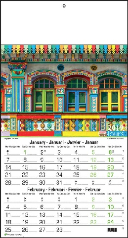 Calendrier 6 pages, Couleurs