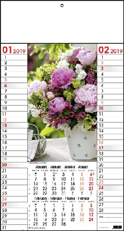 Calendrier 6 pages Bouquets